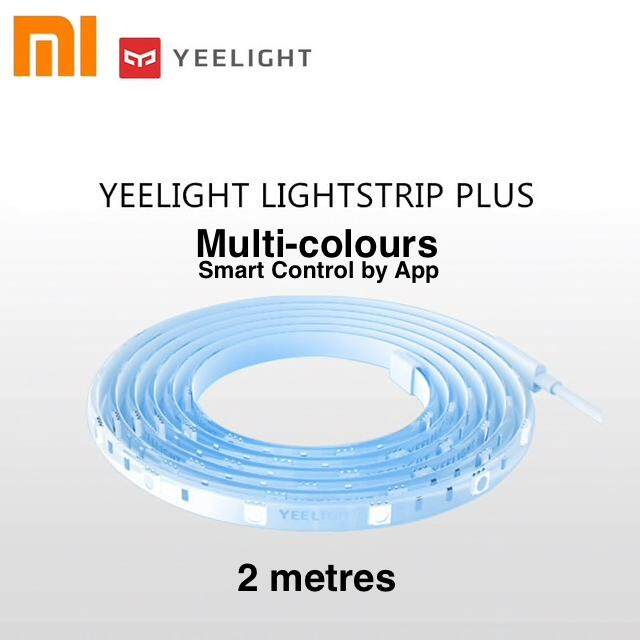 Yeelight Smart LED Light Strip Plus (Multi Colours) 2M length, Wi-Fi Smart Control, 220V (Model YLDD04YL)