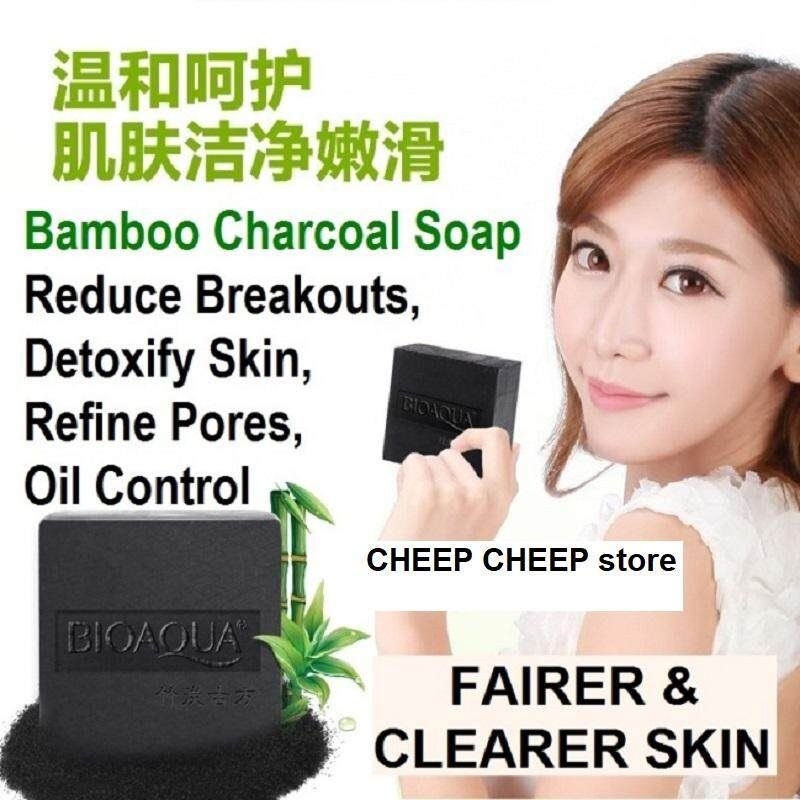 Bioaqua Bamboo Charcoal Black Soap – Blackhead Whitehead & Oil Control Pore Shrinking Whitening Anti-Acne 100g