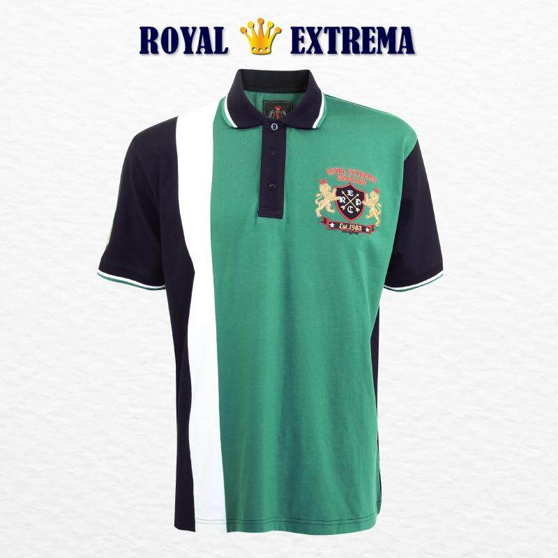 ROYAL EXTREMA BIG SIZE Cut & Sew Polo RE2003 (Black)