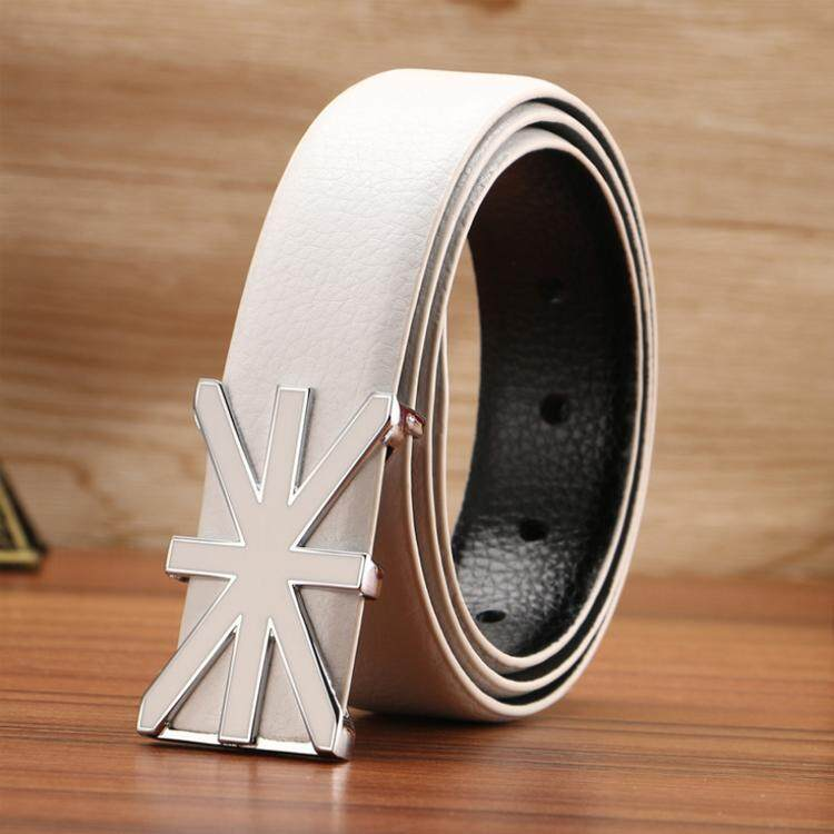 Doulilu Men Leather Belt Premium Quality Smooth Buckle Tali Pinggang Waist Belt 255 -MI2553