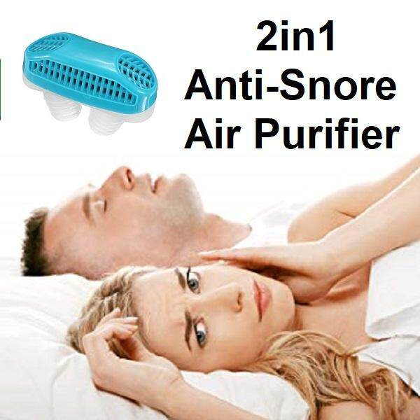 2in1 Anti Snoring & Air Purifier - Snore Stopper Stop Snore Breathing Aid Silicone Nose Clip Sleeping Plug Sleep Apnea Device