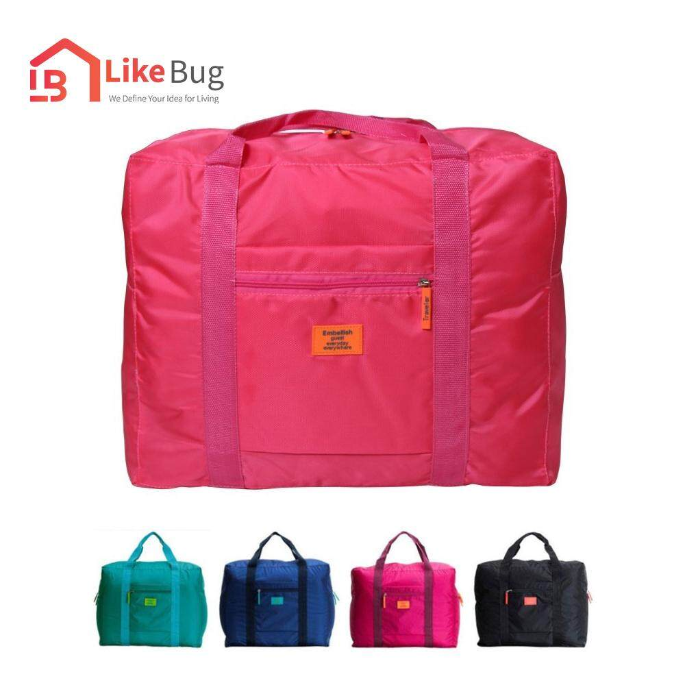 LIKE BUG : Foldable Travel Storage Luggage Carry-on Organizer Hand Shoulder Duffel Big Bags