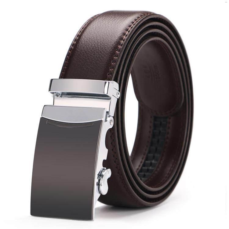 Doulilu Men Leather Belt Premium Quality Smooth Automatic Buckle Tali Pinggang Waist Belt 264 -MI2642