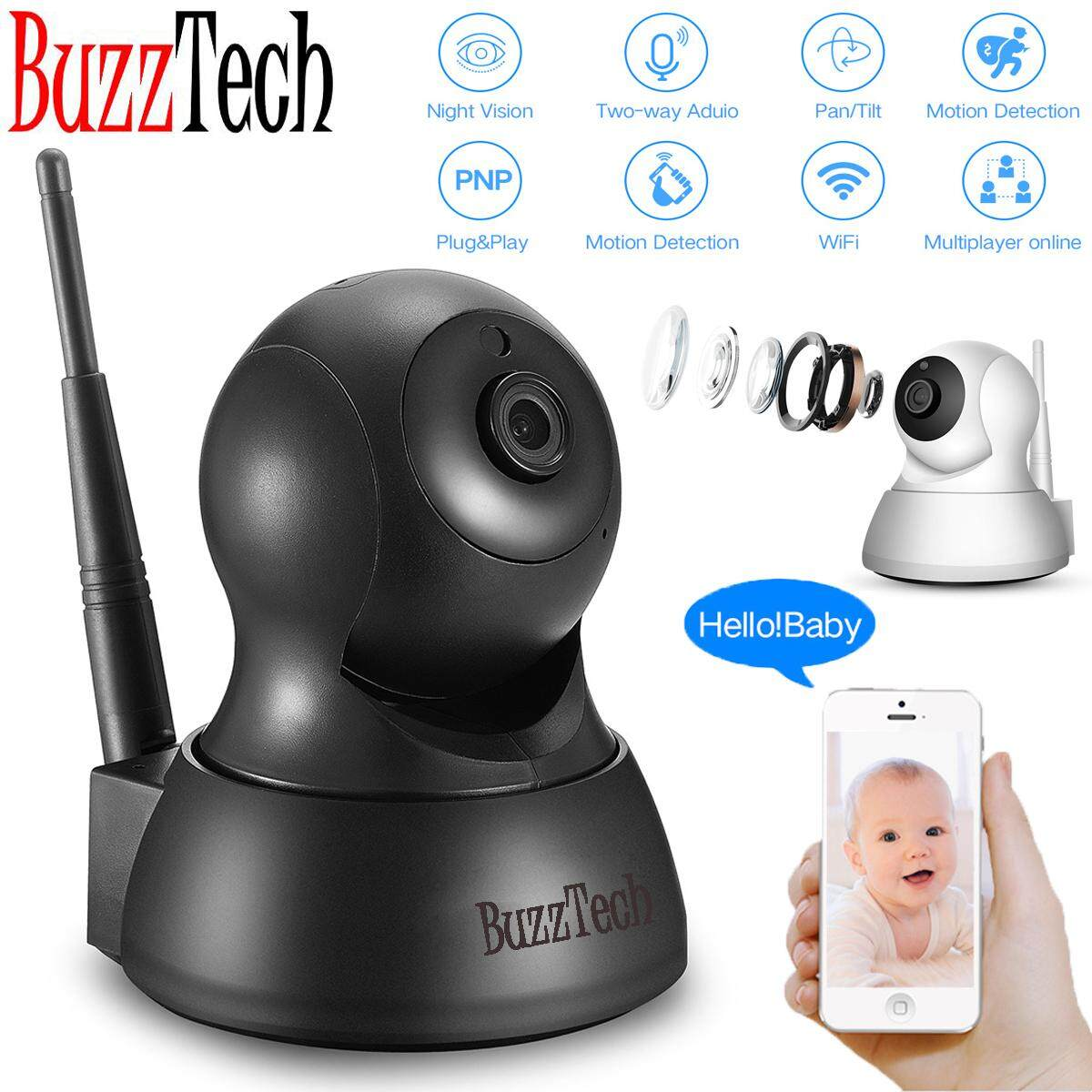 BuzzTech ICSEE Smart Wifi Camera IP Security Camera Cam 720P HD Wifi CCTV Night Vision Baby Monitor Wireless IP infrared monitoring