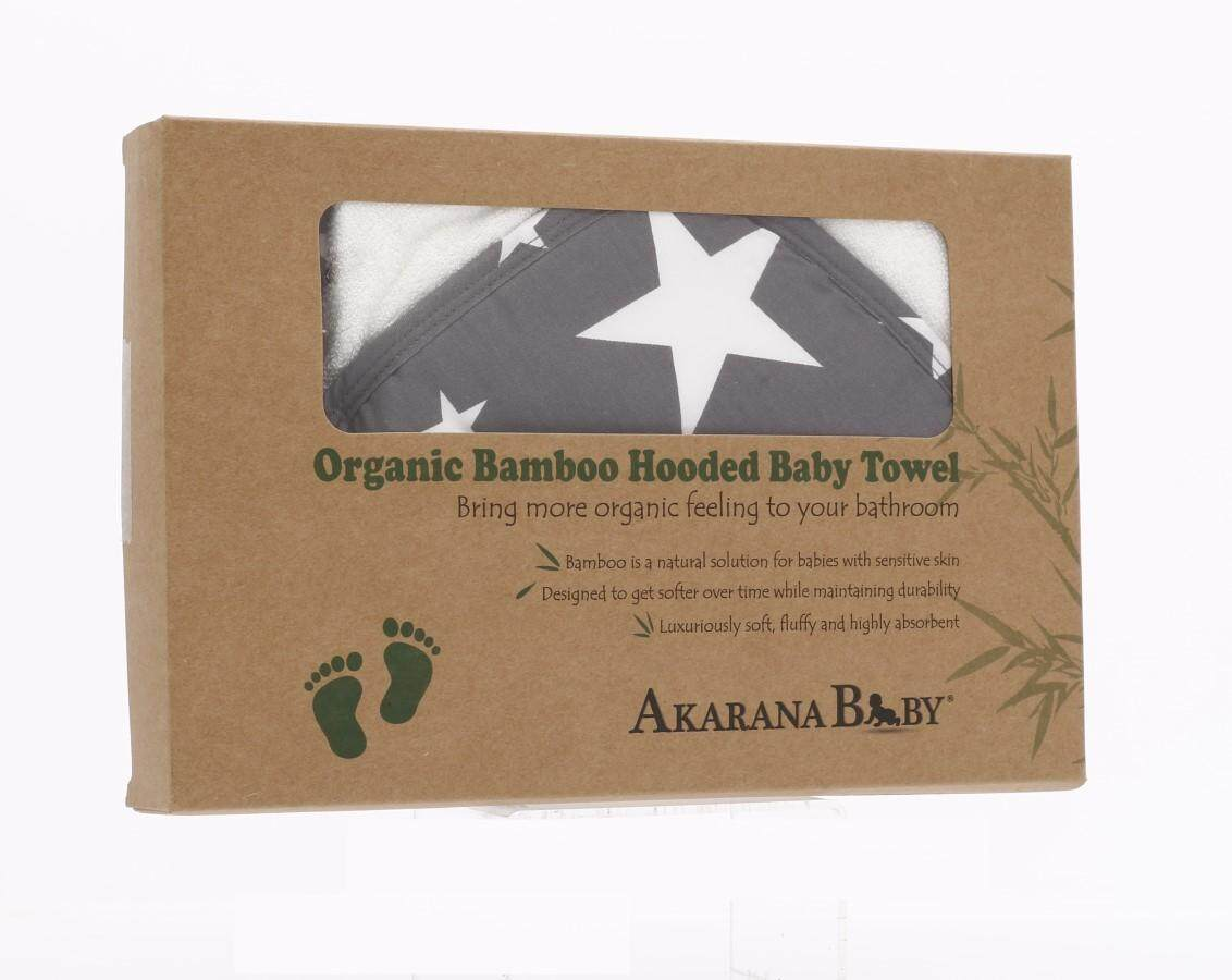 Akarana Baby Best Quality Organic Bamboo Hooded Towel (Star)