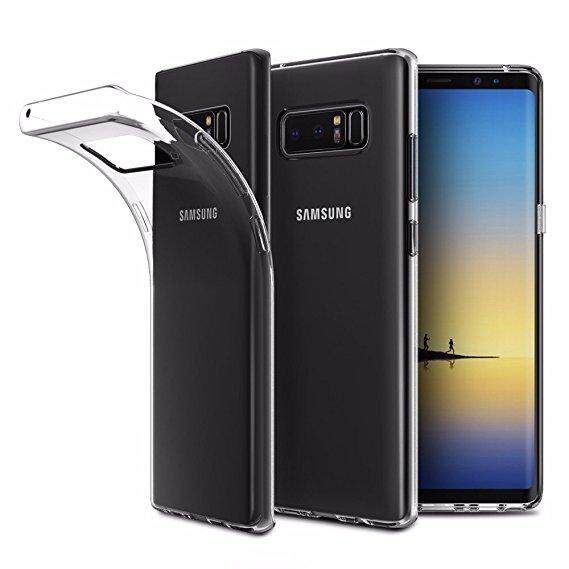 TPU Silicone Case for Samsung Note 8 (Transparent)