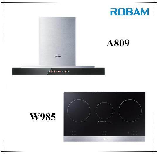 Robam A809 Chimney Hood + W985 Electric Hob