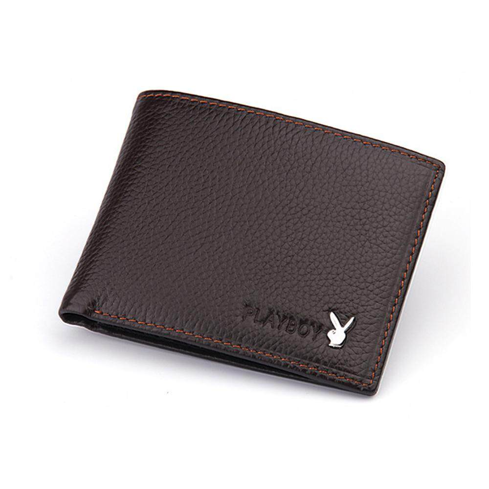 PLAYBOY LEATHER SHORT WALLET WITH 6 CARD SLOTS +FREE GIFT! MI0732