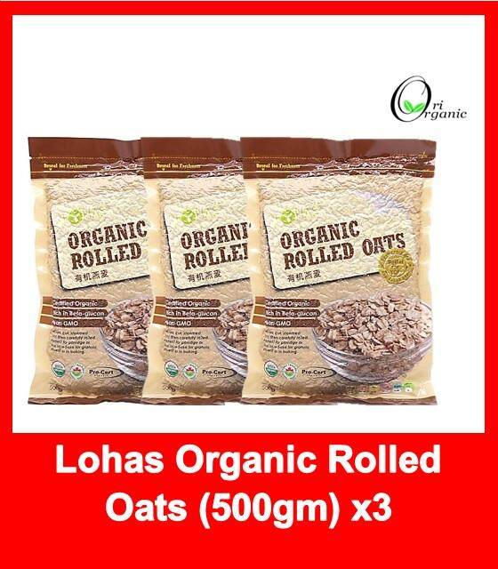 Canada Organic Rolled Oat / 500gm (Exp2020/12) x 3 packet