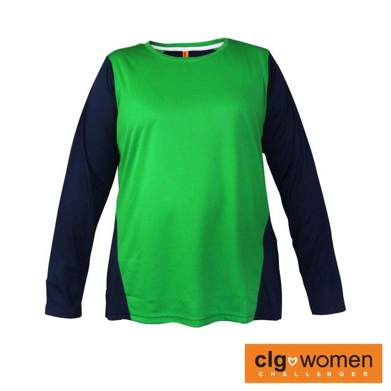 CHALLENGER WOMEN PLUS SIZE Round Neck Mix and Match Tee CHW300001 (Green)