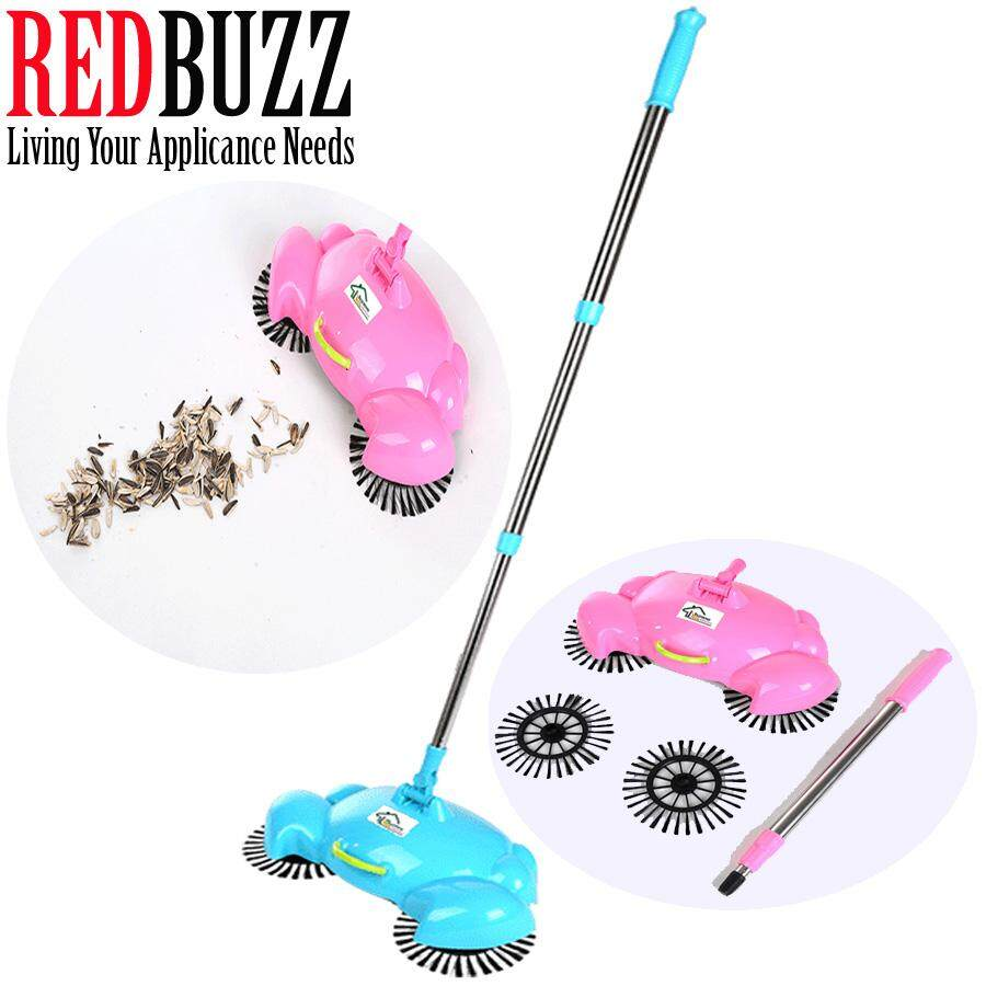 REDBUZZ Crab Design Fully Automatic Hand Push Sweeping Machine Magic broom House Cleaner Sweeper (Blue)