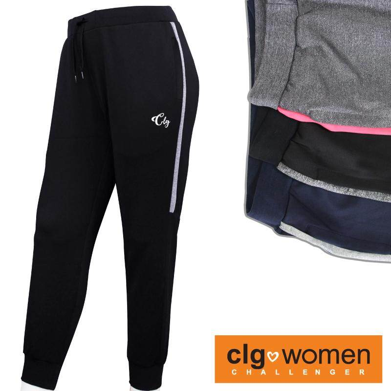 CHALLENGER WOMEN PLUS SIZE Microfiber Spandex Sports Pant with Grip CHW600002 (Black)