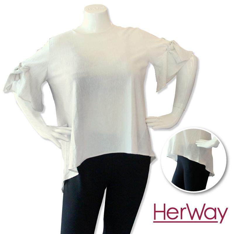 HERWAY PLUS SIZE Ladies Smart Casual Three Quarter Sleeves Mix & Match HW9037 (Khaki)