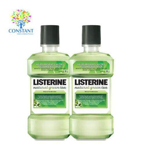 Listerine Natural Green Tea Mouthwash 750ml x 2
