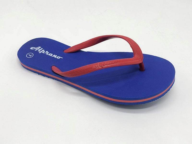 Alprano APL-06 Rubber Anti Slip Flat Slippers Beach Slippers Ladies Designs UK Size 5 (Blue)
