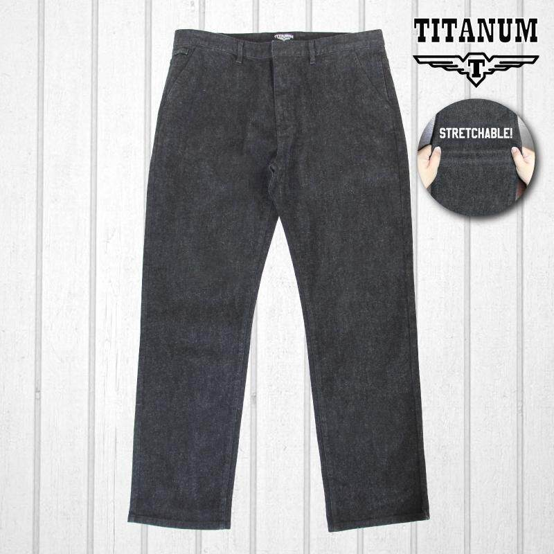 TITANUM BIG SIZE Chinos Stretch TC812 (Black)