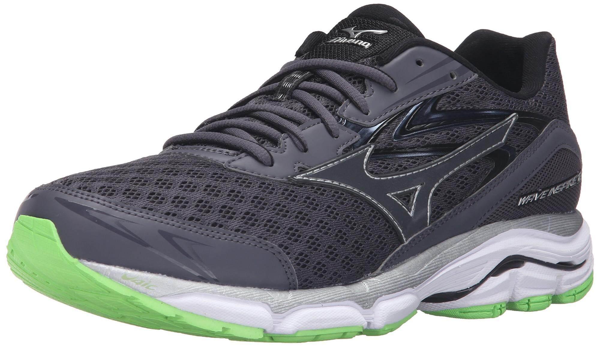 Mizuno Men's Wave Inspire 12 Running Shoe, Periscope/Green Flash, 8 D US