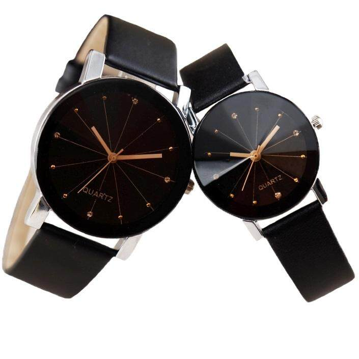 SoKaNo Trendz C01 Fashion Couple Watch- Black