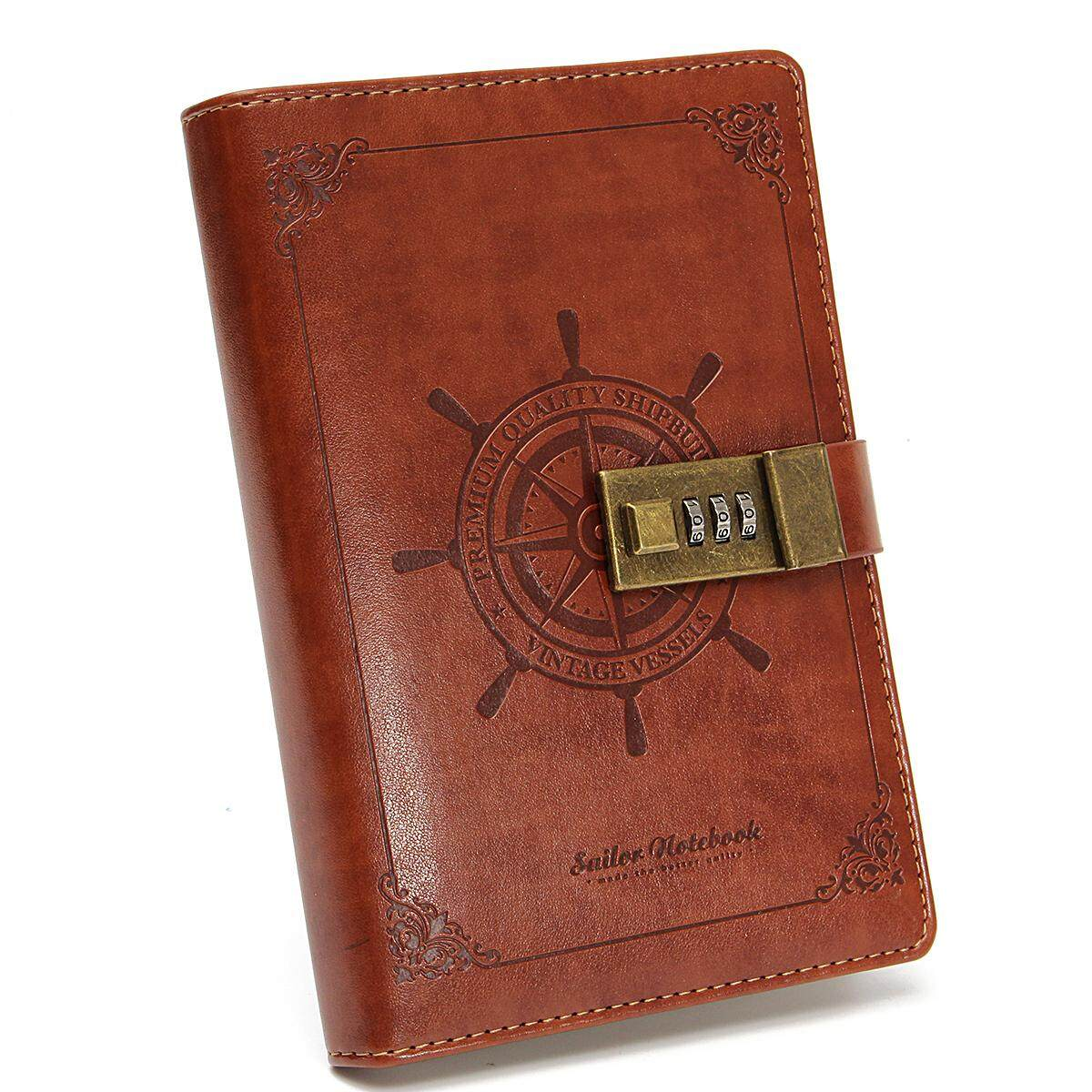 Old fashioned diary with lock 47
