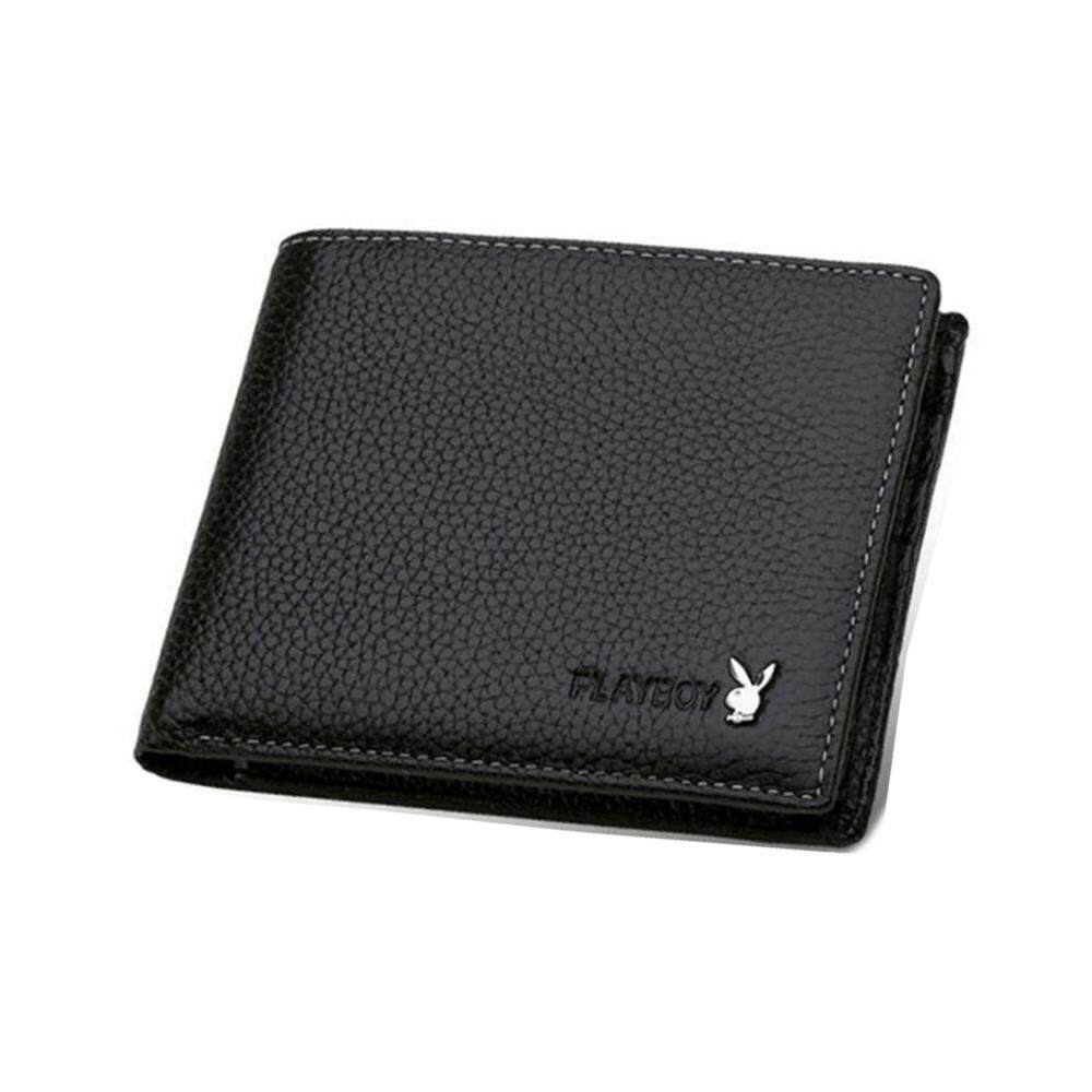 PLAYBOY LEATHER SHORT WALLET WITH 6 CARD SLOTS +FREE GIFT! MI0731