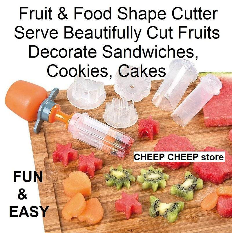Pop Chef Fruit Carving Shaper Cutter Slicer Food Decorator for Festival Party Picnic – Push Pop Eat