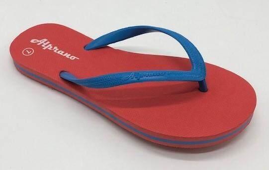 Alprano APL-06 Rubber Anti Slip Flat Slippers Beach Slippers Ladies Designs UK Size 7 (Red)