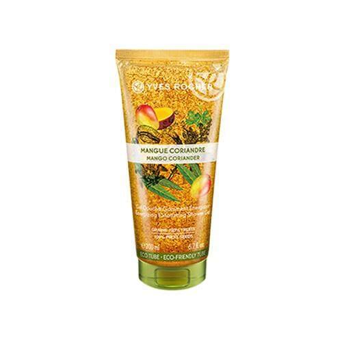 YVES ROCHER Plaisir Nature Energy Exfoliating Shower Gel 200ml - Mango Coriander