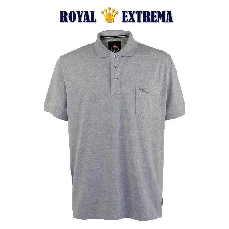 ROYAL EXTREMA BIG SIZE Cotton Polo T-shirt with Pocket RE2021 (Melange)