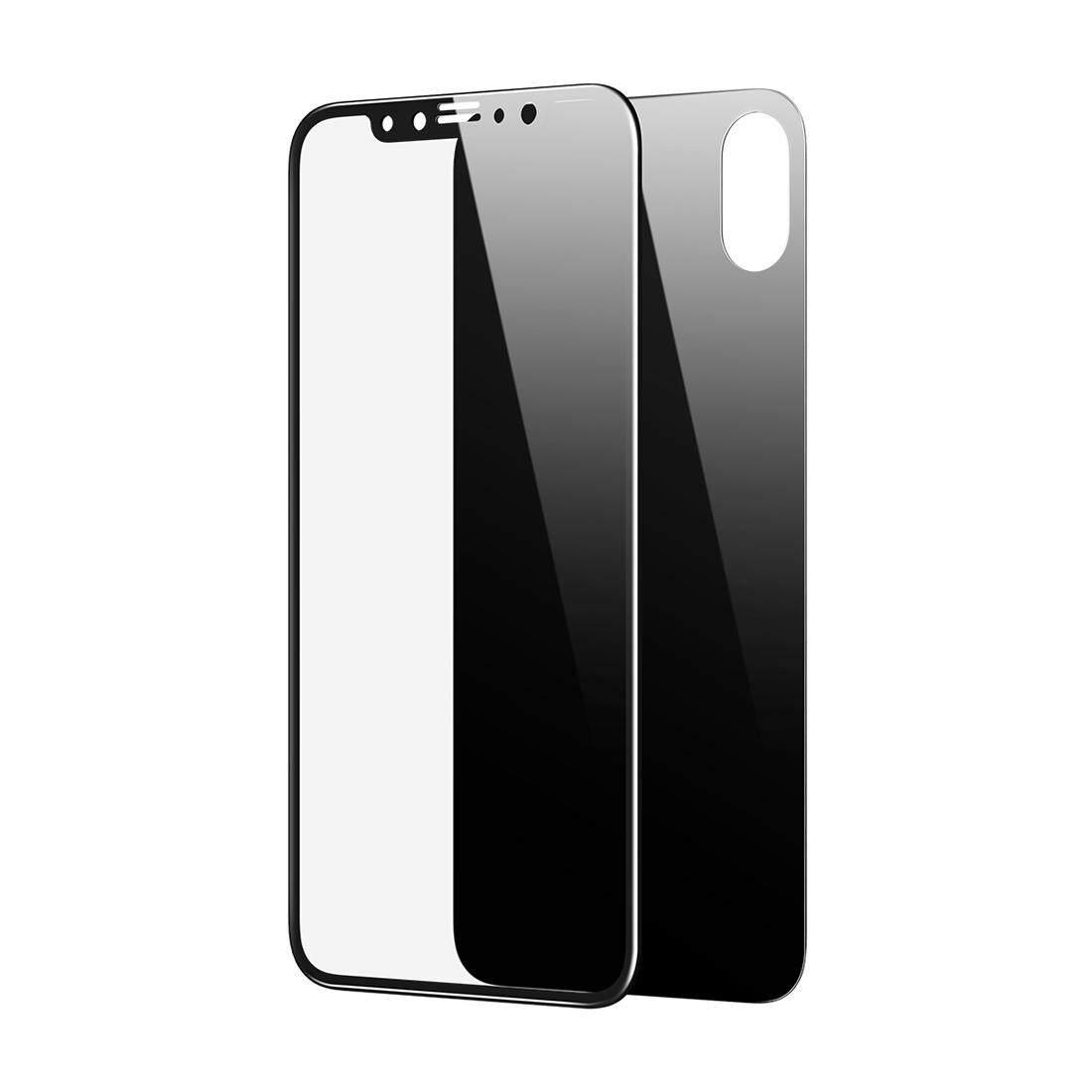 BASEUS untuk iPhone X Anti-Gores 2 Dalam 1 0.2 Mm Depan + 0.3 Mm