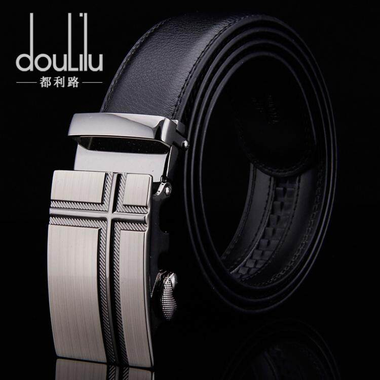 Doulilu Men Leather Belt Premium Quality Smooth Automatic Buckle Tali Pinggang Waist Belt 258 -MI2581