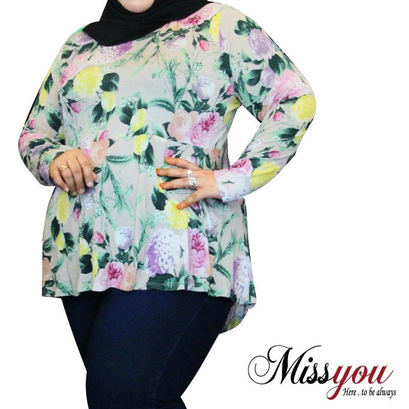 MISS YOU PLUS SIZE Long Sleeve Blouse MY900007 (Pink)