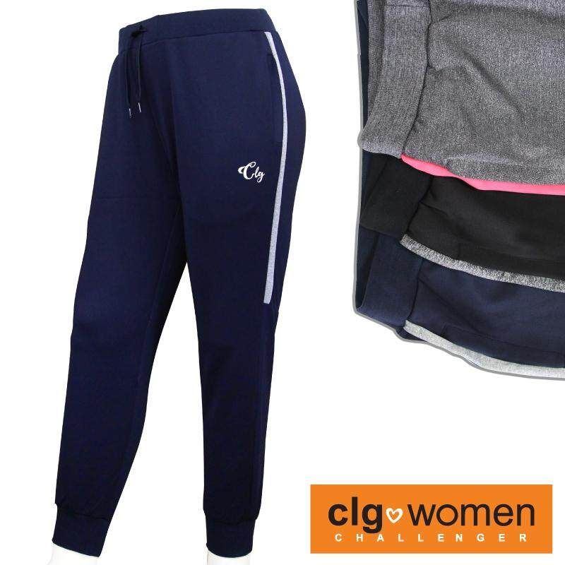 CHALLENGER WOMEN PLUS SIZE Microfiber Spandex Sports Pant with Grip CHW600002 (Navy)