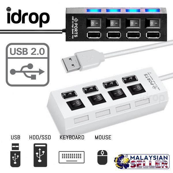 idrop USB 2.0 - External Multi Expansion Hub 4 Port Extension