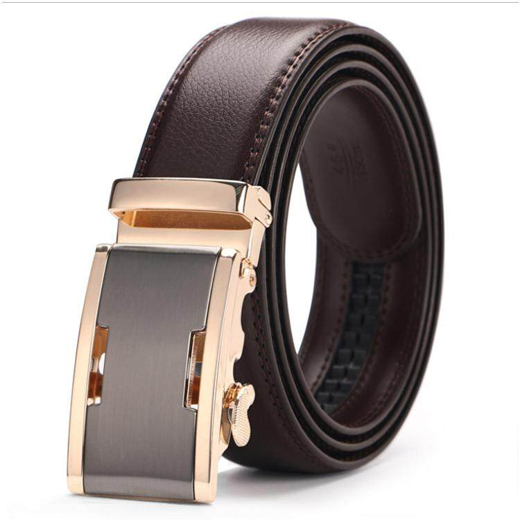 Doulilu Men Leather Belt Premium Quality Smooth Automatic Buckle Tali Pinggang Waist Belt 262 -MI2622