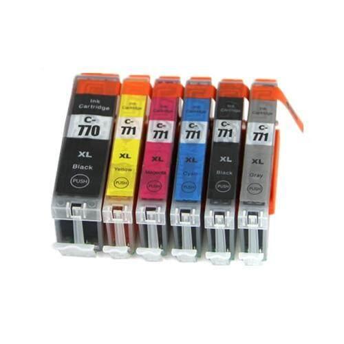 PGI770XL CLI771 XL Compatible PGI-770XL CLI-771XL 6 Multi Pack Ink Cartridge (B/C/M/Y/GY)