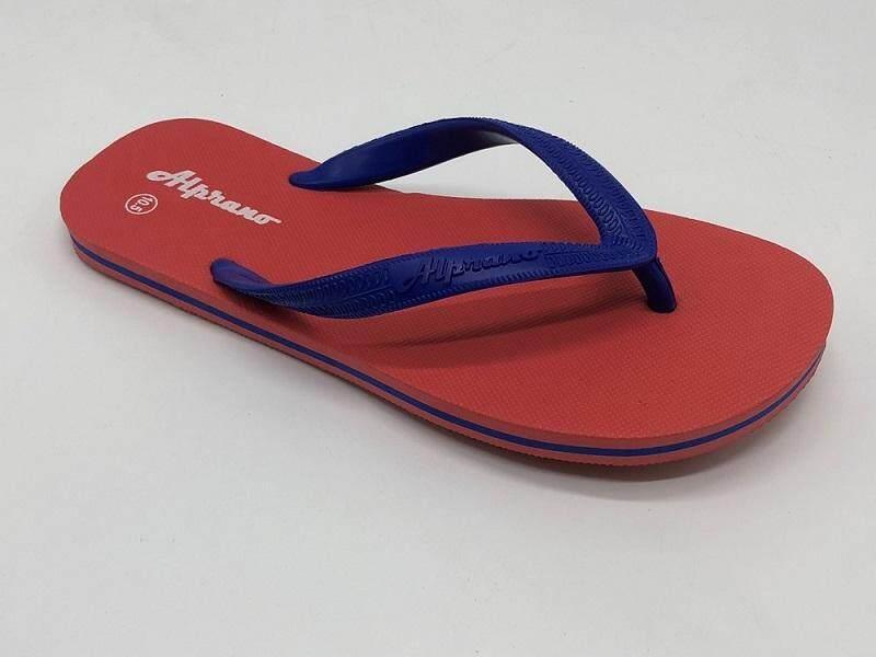 Alprano APM-06 Rubber Anti Slip Flat Slippers Beach Slippers Men Designs Size 9-11 (UK Size 10) (Red)