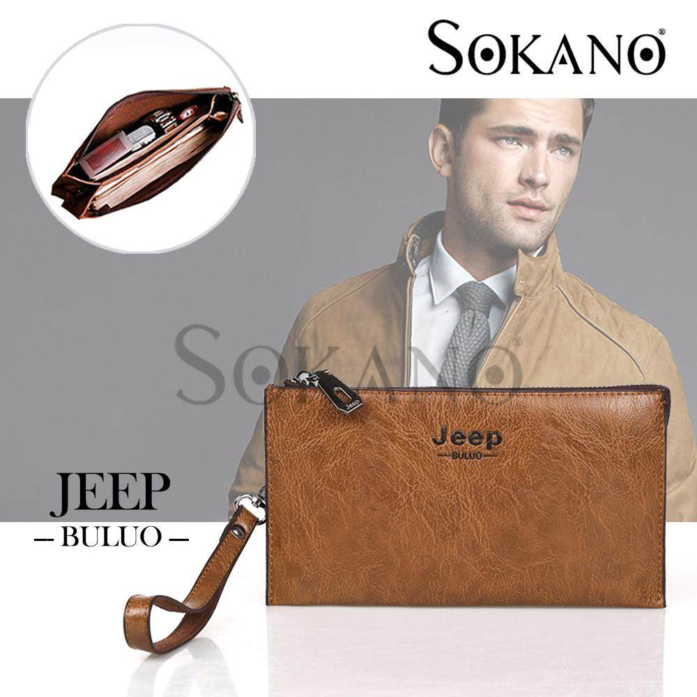 SoKaNo Trendz SKN916 JEEP NEW Professional Men Fashion Leather Hand Bag Hand Pouch Dompet