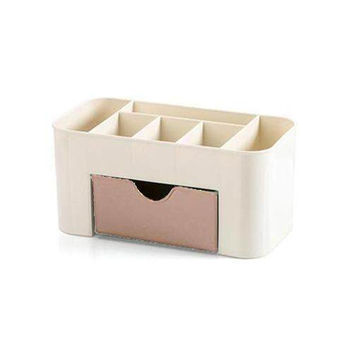 Double Layer Makeup Holder Box - Pink