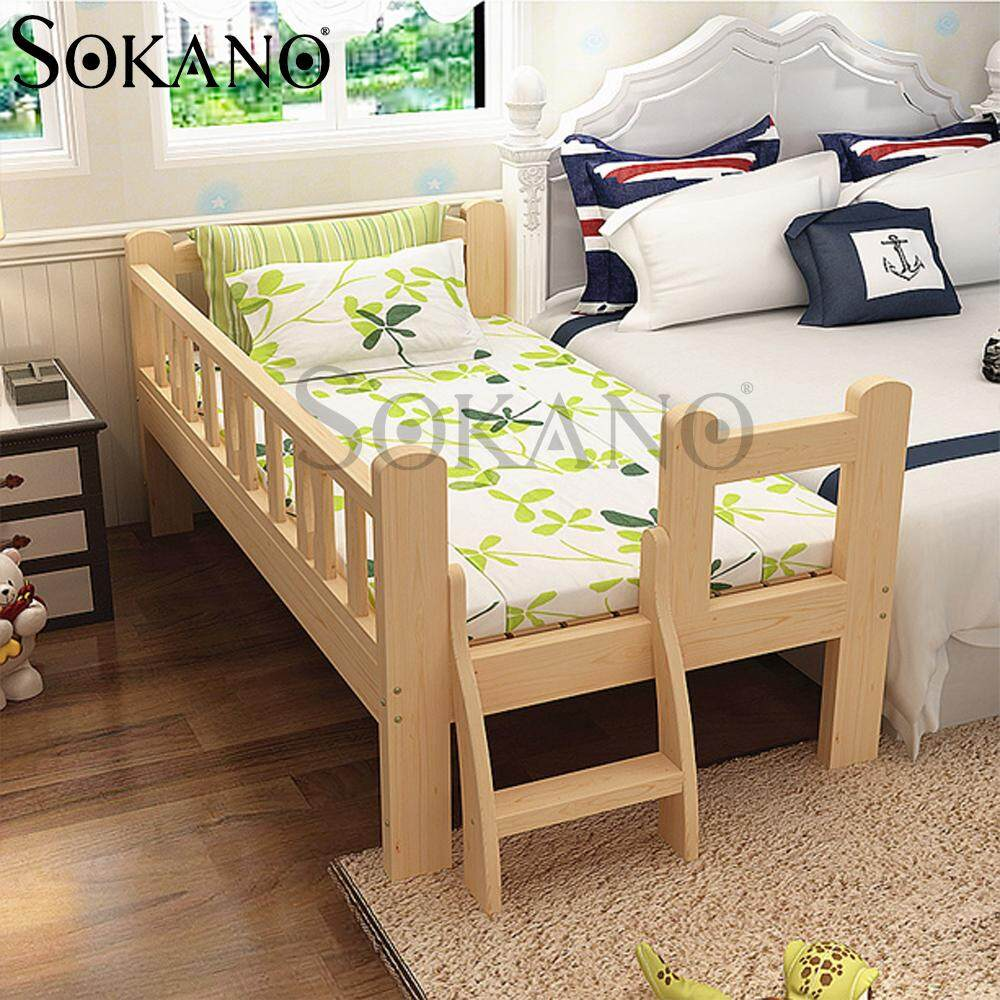 [11.11]  SOKANO HA231 Easel Wooden Baby Bed Baby Cot Attached to Parents Bed with Staircase