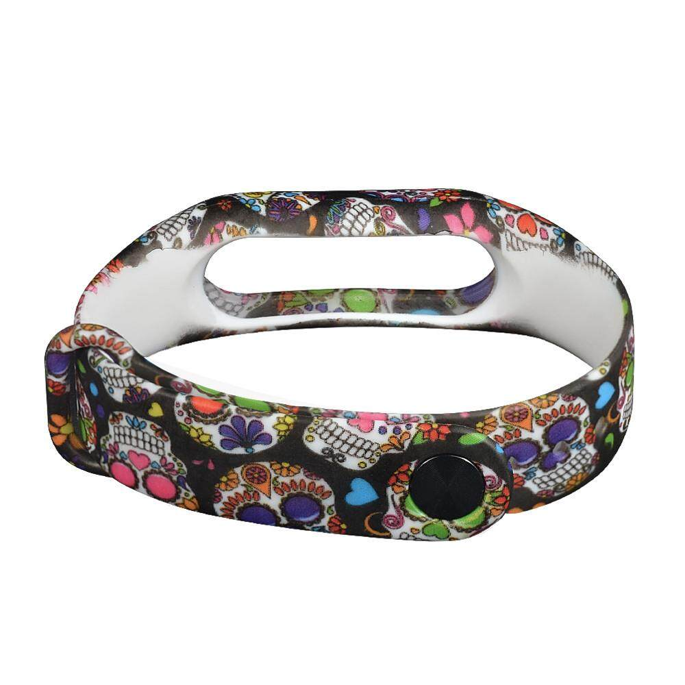 Kehebatan Camouflage Pattern Strap Wristband Bracelet Replacement Silicone Mi Band 2 Oled Motif Army Camo Mix New Skull Silicon For Xiaomi Finleyshop Intl
