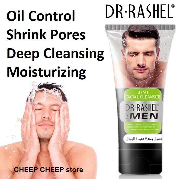 Dr Rashel MEN 3 in 1 Facial Cleanser – Deep Cleansing Exfoliating Oil Control Acne Control Brightening 100ml