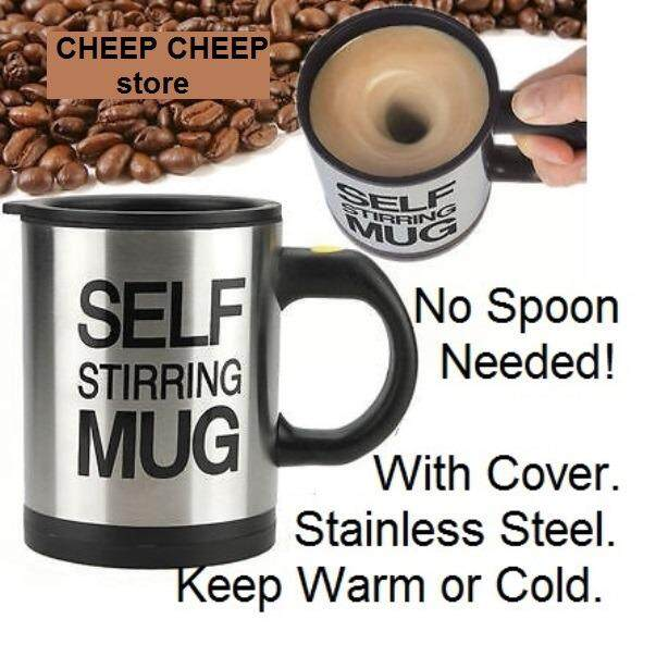Self Stirring Mug the Stainless Insulated Keep Warm or Cold Battery Operated Lazy Mug for Busy People Morning Rush Hour