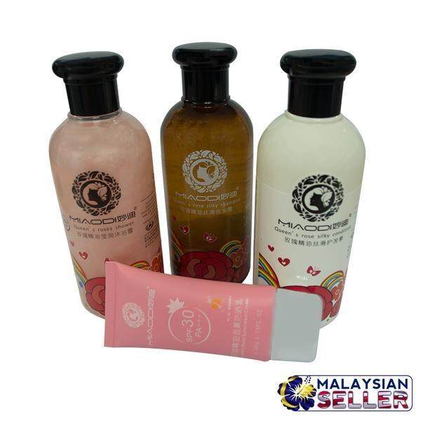 Natural Rose Essential Romance Soft Shampoo Set + ANMYNA Mini Pure Makeup Cream