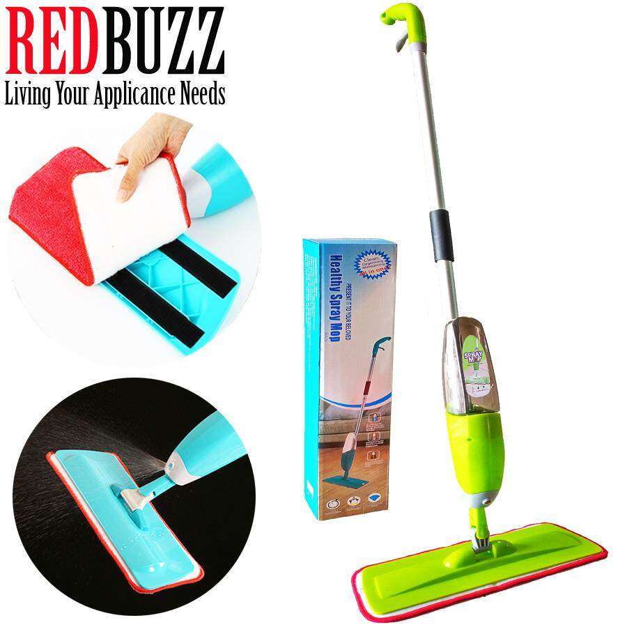 REDBUZZ Easy Spray Mop with Microfiber Mop (Green)