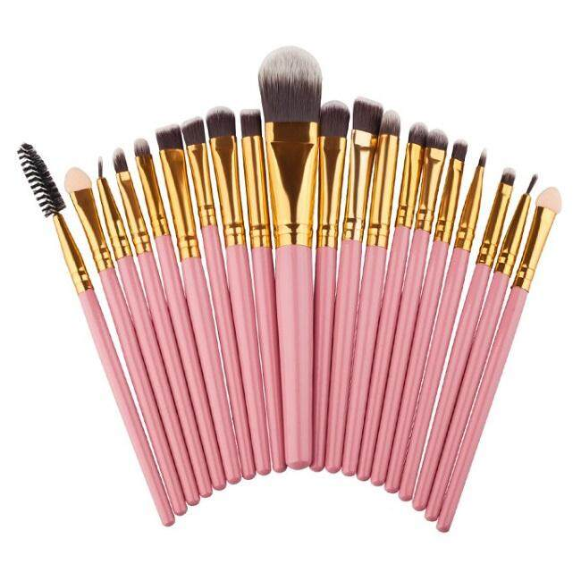 20 pcs Make Up Brush Set Professional Makeup Brushes Eyebrow Eyeshadow Mascara Lip Kit