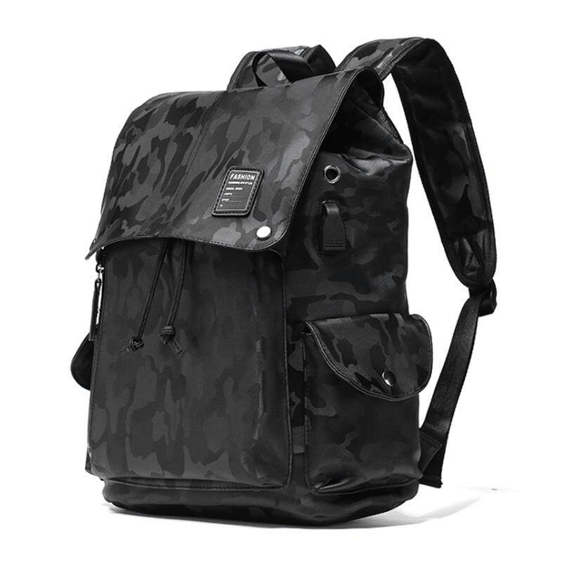 Casual Leather Backpack USB Laptop Bag Light Weight Waterproof Travel Bag 290 MI2901