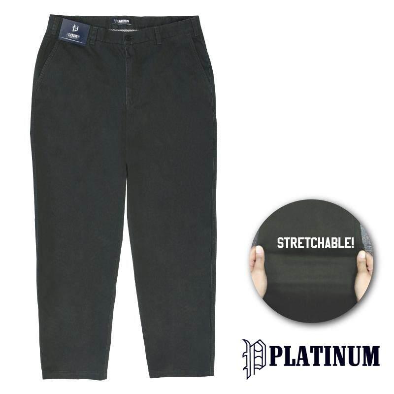 PLATINUM BIG SIZE Stretchable Fine Cotton PM653 (Black)
