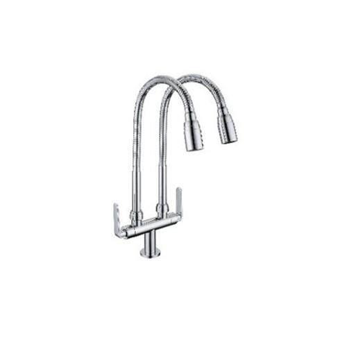Corona Pillar Sink Tap Faucet (Double) With Flexible Spout CRWT4173