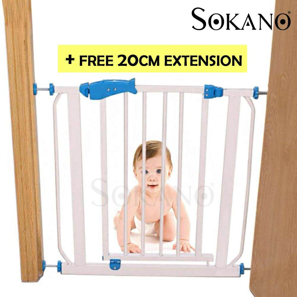BUNDLE Deal: Sokano Premium Safety Gate for Children And Extension Gate (71cm-95cm)