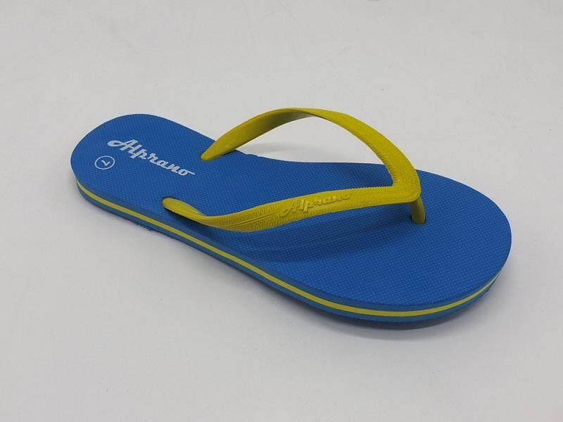 Alprano APL-06 Rubber Anti Slip Flat Slippers Beach Slippers Ladies Designs UK Size 8 (Light Blue)
